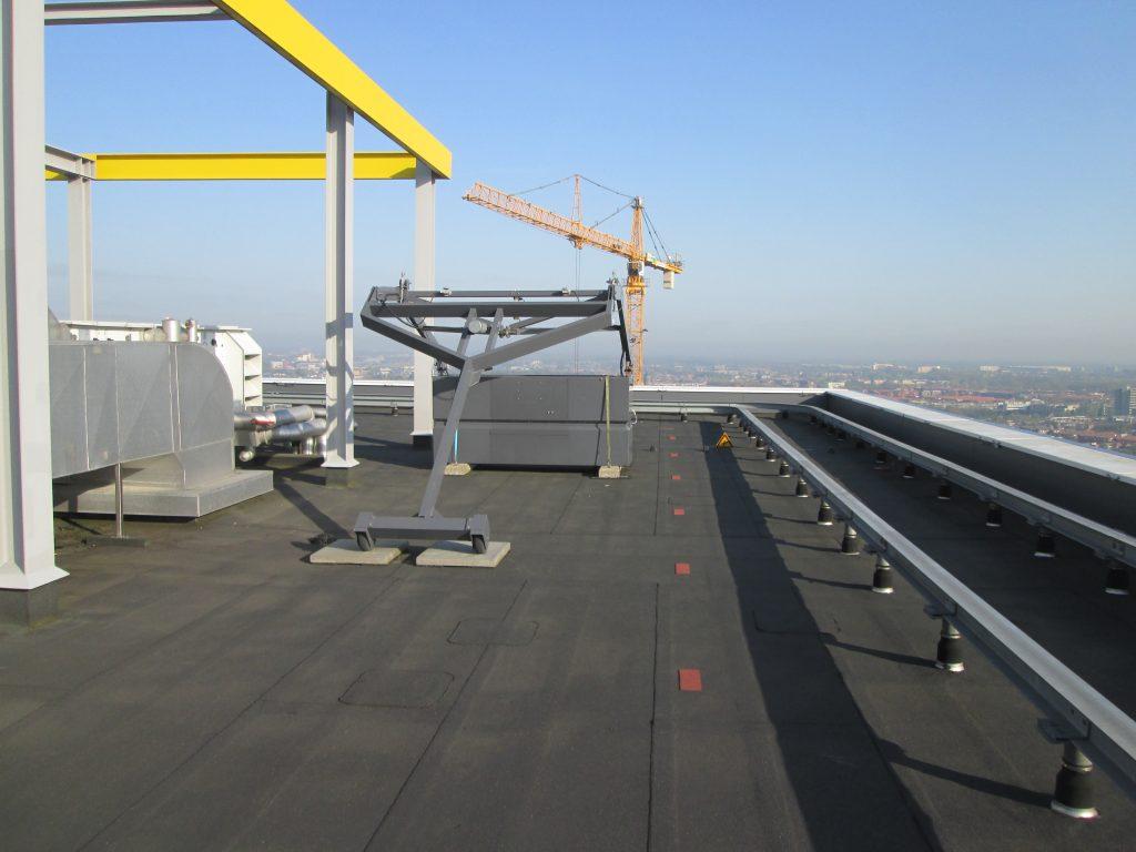 overzicht installaties op het dak