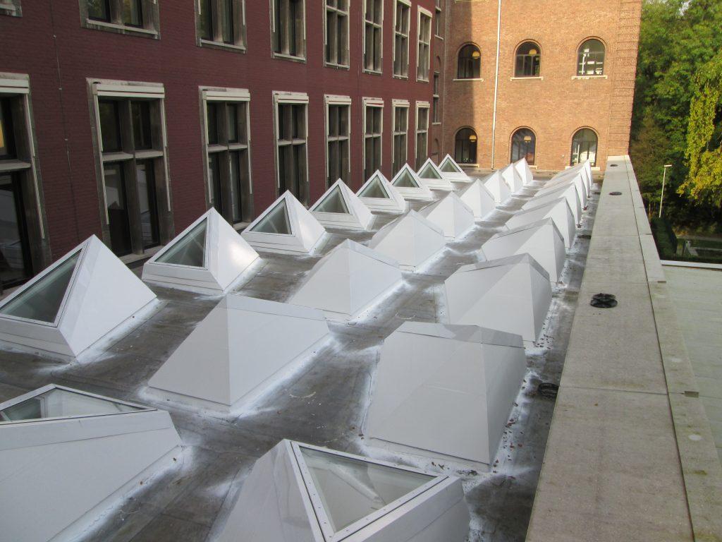 bijzondere sheds op dak