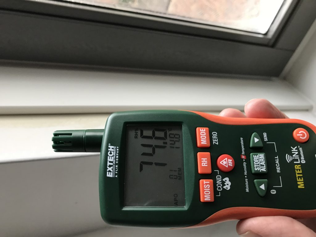 Vocht en temperatuursmetingen